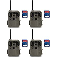Stealth Cam GXW 12MP 1080p HD iOS & Android Game Camera, 4 Pack + 16GB SD Cards