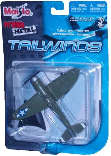 Maisto Fresh Metal Tailwinds 1:87 Scale Die Cast United States Military Aircraft : U.S. Air Force World War II Single Piston Engine Aircraft For Air and Ground Assault : P-47D Thunderbolt with Display Stand ()