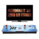[1388 HD Arcade Games] J-Deal Arcade Video Game Console 1388 Retro Games Pandora's Box 5s Plus Arcade Machine Double Arcade Joystick Built-in Speaker