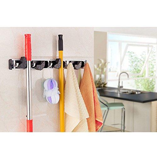 Wall Mounted Mop Organizer Holder Brush Broom Hanger Storage Rack Kitchen Tool (Emergency Blow Up Bed)