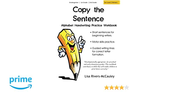 Copy the Sentence: Alphabet Handwriting Penmanship Practice ...