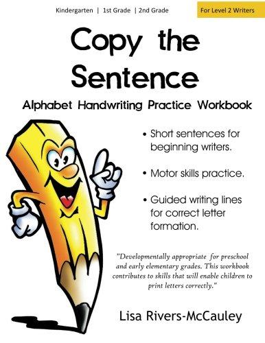 Copy the Sentence: Alphabet Handwriting Penmanship Practice Workbook
