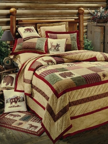 C&F Home Big Sky Full/ Queen Quilt, Lodge Themed Pieced and Embroidered Quilt (Shams Not Included)