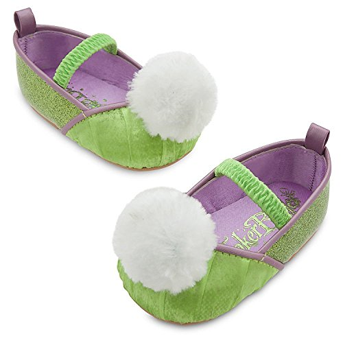 Disney Store Deluxe Tinker Bell Tinkerbell Costume Shoes Baby Size 12-18 (Disney Toddler Deluxe Tinker Bell Costumes)