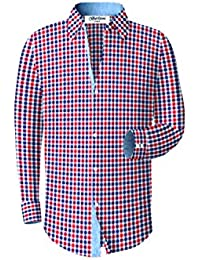 Men's Checkered Plaid Dress Shirt – Many Colors Available