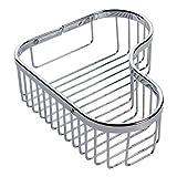 Ginger 505L/PC Splashables Large Wall Mounted Corner Shower Basket, Polished Chrome