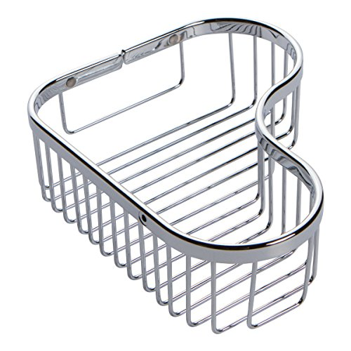 Ginger 505L/PC Splashables Large Wall Mounted Corner Shower Basket, Polished Chrome