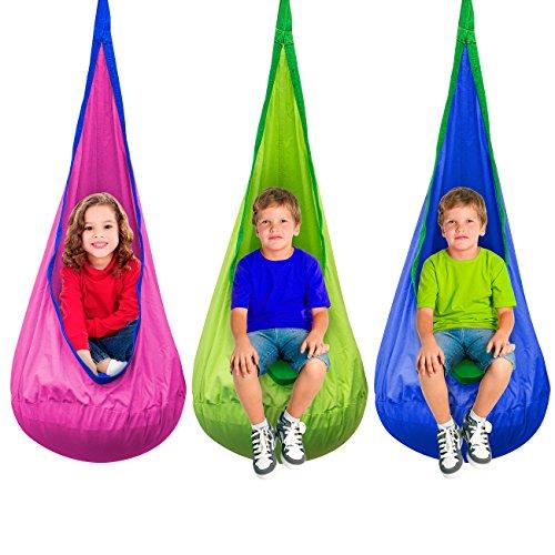 Sorbus Kids Pod Swing Chair Nook Hanging Seat Hammock Nest For Indoor And Outdoor