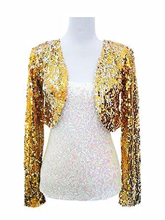 Whitewed Long Sleeve Sequin Shrug Cardigan Coat Jacket Bolero ...