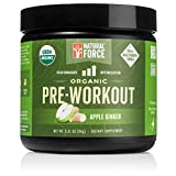 Organic Pre Workout – Apple Ginger *Best Preworkout Powder for Energy and Focus* Creatine Free Natural Supplement to Burn Fat and Build Muscle. Gluten Free, Non-GMO by Natural Force, 3.31 Ounce