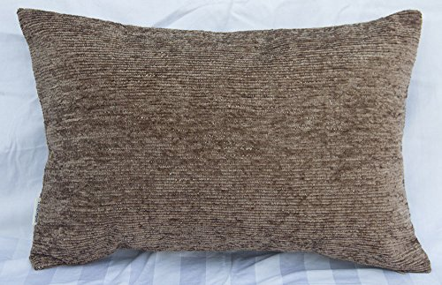TangDepot Solid Velvet Soft Linen Decorative Handmade Throw Pillow Covers /Pillow Shams, Rectangle Indoor/Outdoor Pillows Shell - (12