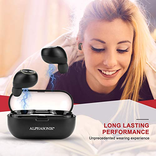 Alphasonik-True-Wireless-Earbuds-Bluetooth-Noise-Isolating-Water-resistant-Headphones-Touch-Control-Sports-in-Ear-Earbud-TWS-Stereo-Sound-Mini-Headset-Built-in-Mic-Extra-Bass-Portable-Charging-Case