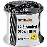 CERRO 112-3651J 500' 12 Stranded Thin, Black