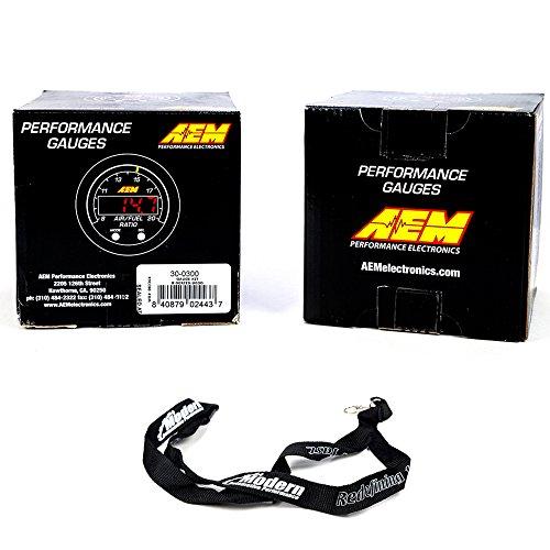 Series Boost Pressure Gauge - AEM 52mm X-Series Gauge Kit Wideband Air/Fuel UEGO & Boost Pressure 35PSI 2.5Bar w/MAP Lanyard Black