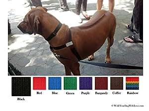 No-Choke No-Pull Front-Leading Dog Harnesses, Original Edition, 18-35 lbs, Black Night