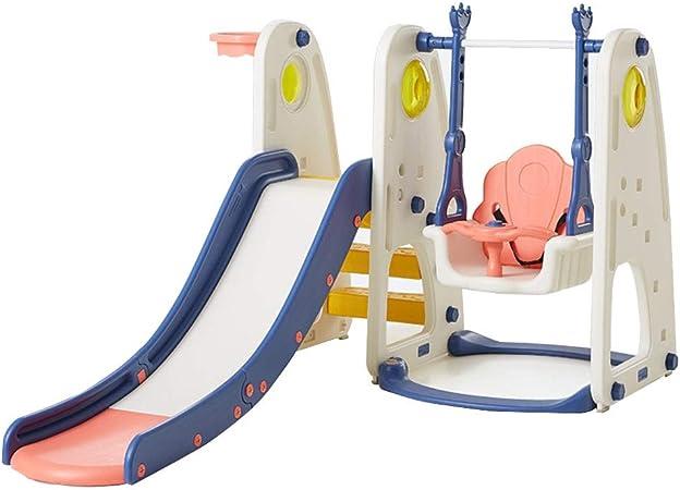 Tobogán Infantil Combinación De Columpio Multifuncional para Niños. Parque Infantil Al Aire Libre Deporte De Escalada Adecuado para Parques Infantiles, Piscinas. (Color : Blue, Size : 150 * 111cm): Amazon.es: Hogar