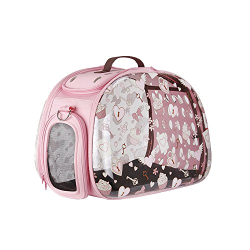 Collapsible Transparent Pet Carriers for Cats and Dogs, m...