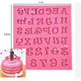 Ainest 1pc Silicone Alphabet Letter Trays Chocolate Mold Cake Fondant Decorating Tools