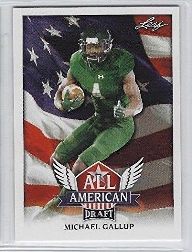 "Leaf MICHAEL GALLUP 2018"" 1ST EVER PRINTED DRAFT ALL-AMERICAN ROOKIE CARD! COLORADO STATE RAMS!"