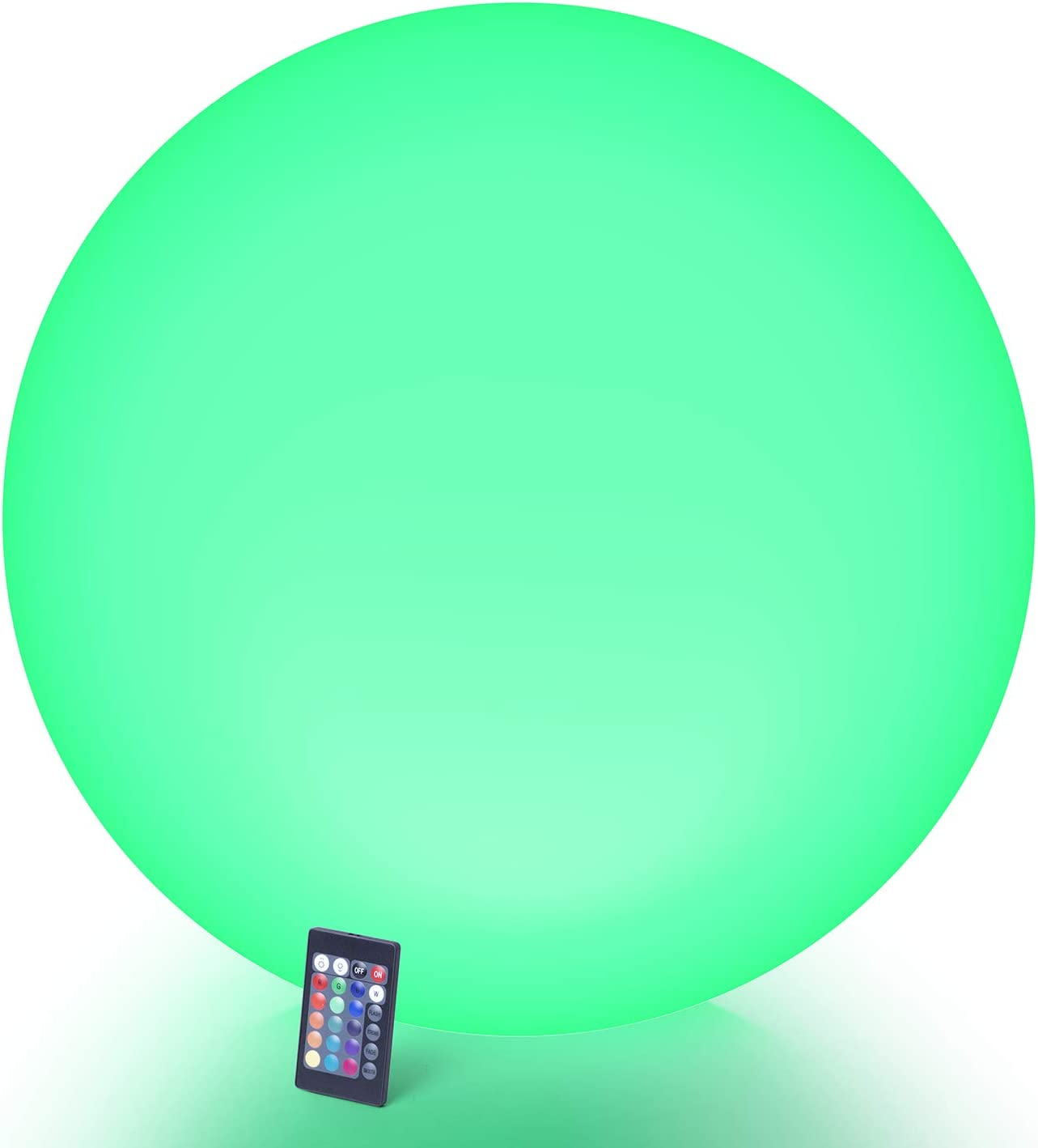 LOFTEK Large LED Nursery Night Light Ball, 24-inch Rechargeable Waterproof Floating Pool Lights with Remote, 16 RGB Colors & 5 Dimming Levels & 4 Lighting Modes Cordless Light Up Ball
