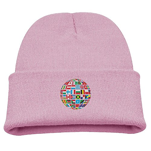 Cute Country Girl Costumes (Jukaifaquj Children Countries Earth Girls&Boys Winter Warm and Comfortabl Cute Pattern Knitting Hat Beanie Skull Cap Pink)