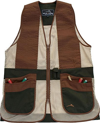 (Wild Hare Shooting Gear WH-421S-FB-S Primer Shooting Vest Primer Mesh Shooting Vest, Forest Green/Brown,)