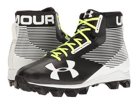 (アンダーアーマー) UNDER ARMOUR メンズフットボールアメフトシューズ靴 UA Hammer RM Black/White 12 30cm D - Medium [並行輸入品] B06ZYB3FJB