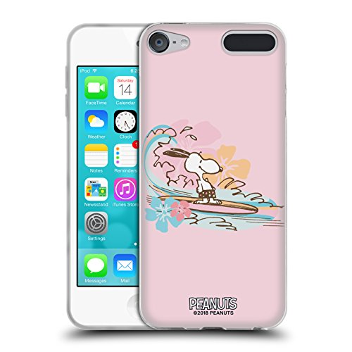 (Official Peanuts Surf Beach Bum Snoopy Soft Gel Case for Apple iPod Touch 6G 6th Gen)