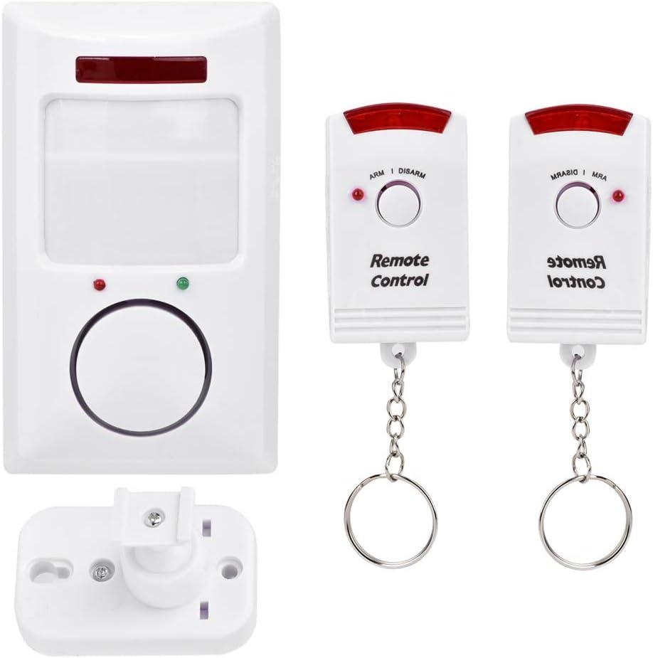 NITRIP Sensor de Alarma de Puerta, Sistema de Alarma inalámbrico de Sensor de Movimiento infrarrojo de 105dB para Proteger la Seguridad de los niños, hogar, Tienda