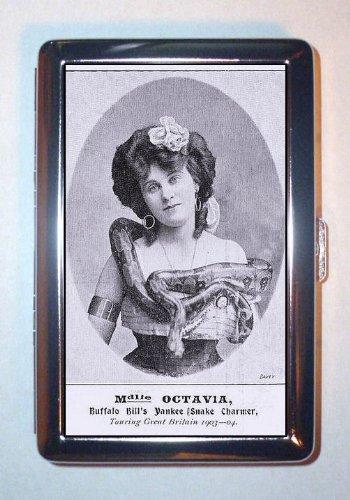 1903 Buffalo Bill's Wild Woman Snake Charmer, ID Wallet or Cigarette Case USA Made ()
