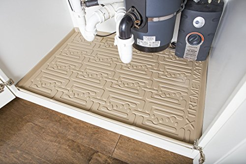 Xtreme Mats Under Sink Kitchen Cabinet Mat, 30 5/8 x 21 7/8, Beige