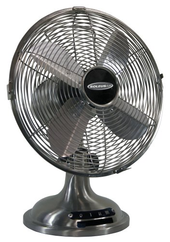 UPC 647568663256, Soleus Air FTM-25 10-Inch Oscillating Table Fan