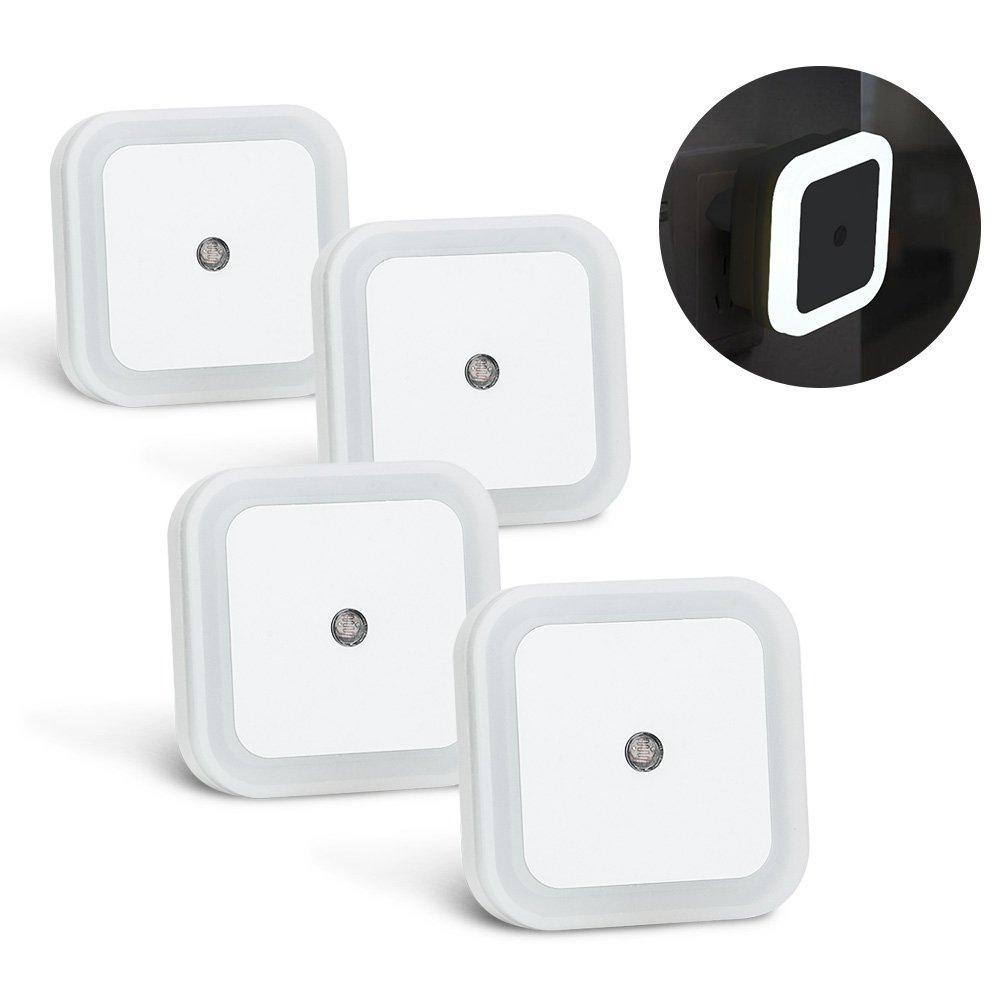 lmpara nocturna con sensor activo luz quitamiedos para nios bebes w led luz de noche con enchufe de pared de bajo consumo ideal para dormitorio