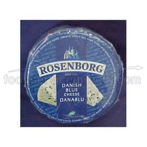 Rosenborg Traditional Danish Blue Cheese Wheel, 6 Pound - 1 each.