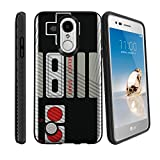 MINITURTLE Case Compatible w/ LG Phoenix 3 Phone Case w/ Grip Pattern [Slim Case for LG Aristo, for LG Risio 2, for LG Fortune] Phone Cover Game Controller Retro For Sale