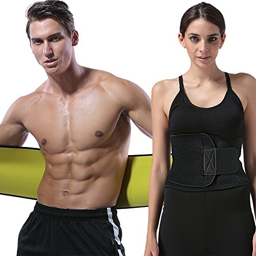 CXYSY Waist Trimmer Belt Slimming Neoprene Ab Belt Trainer for Faster Weight Loss - Stomach Fat Burner Wrap Tummy Control (L:9