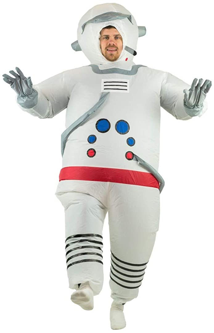 Alien with Giant Face Mens Fancy Dress Jumbo Halloween Space Adults Costume New