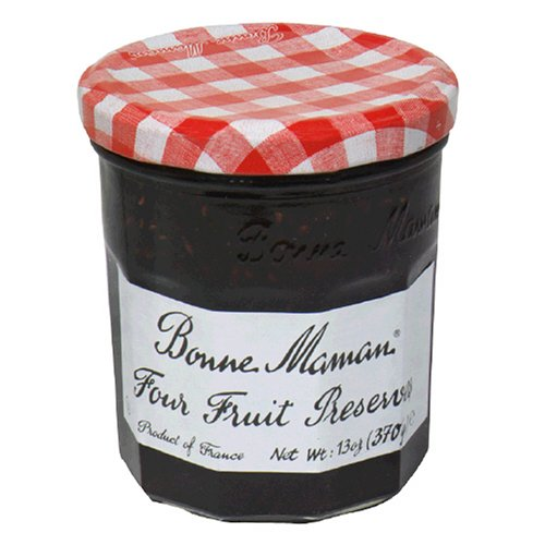 Bonne Maman Four Fruits Preserves, 13-Ounce Jars (Pack of 6) (Four Fruits)