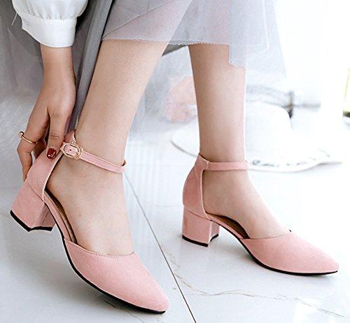 Voyage Chaussure Cheville Escarpins Easemax Simple Pointue Bride Rose Femme 1qgpcRw7cU