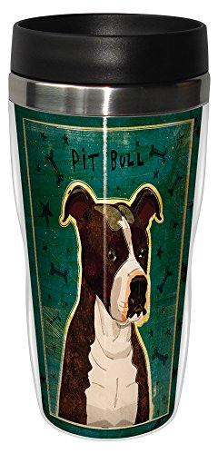 (Tree-Free Greetings sg24016 Brindle Pit Bull by John W. Golden 16-Ounce Sip 'N Go Stainless Steel Lined Travel Tumbler)