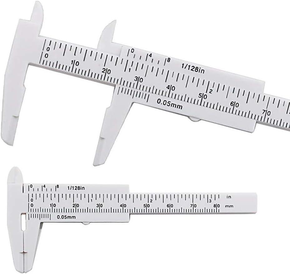 1Pc Mini Plastic Ruler Sliding 80mm Vernier Caliper Gauge Measure Tools NEW SL