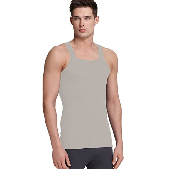 794e164b6f37f G Unit Square Cut Ribbed Tank Top Undershirt Underwear Wife Beater Mens  Cotton  Amazon.ca  Clothing   Accessories