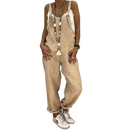 Pantaloni larghi in cotone di lino larghi e larghi in lino autunno e inverno Pantaloni larghi in salopette a gamba larga in tuta Harem