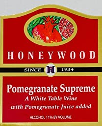 NV Honeywood Winery Pomegranate Supreme Fruit Wine 750 mL