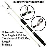 Hunting Hobby Fishing Unbreakable Rod 5.5 Feet, Free Travelling Bag
