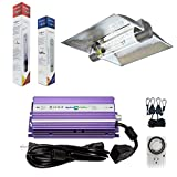 Hydroplanet™ 400W Digital ballast Dimmable HPS Mh Grow Light System Hood for Plants with XXXL 6inch Air Cooled Tube Grow lights Reflector (400W)