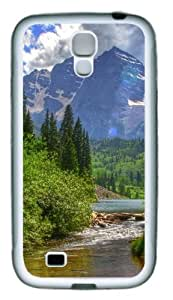 Samsung Galaxy I9500 Case and Cover -Woodland Scene TPU Silicone Rubber Case Cover for Samsung Galaxy S4 and Samsung Galaxy I9500 White