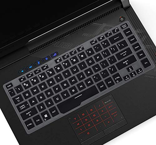 "CASEDAO Keyboard Cover Skin Fit 2020 ASUS ROG Zephyrus M M15 Gaming Laptop 15.6"", ASUS ROG GU502GW GU502GU GA502DU GA502IV Keyboard Skin Protector Accessories - Black"