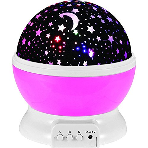 Lamp Rotating Starry Star Moon Sky Rotation Ideal For Dec...