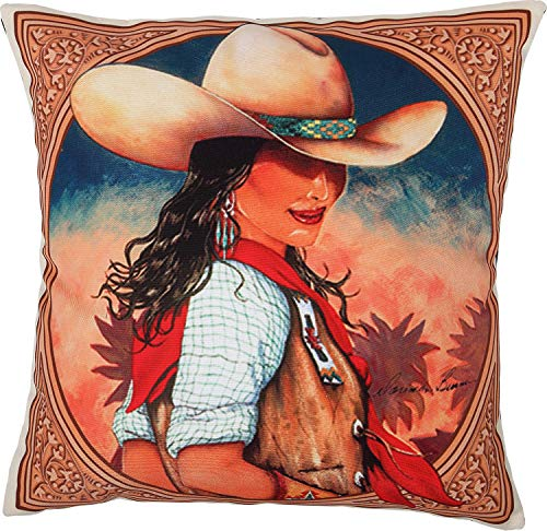 (El Paso Designs Western Rodeo and Native American Beautiful Canvas Pillow Covers 18